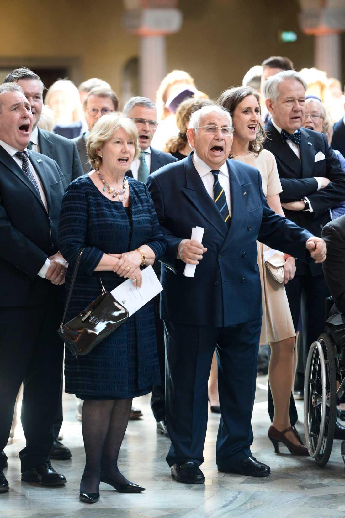 Prinsessan Majda tillsammans med sin make, prins Raad bin Zeid, vid kung Carl Gustafs 70-årsdag 2016.