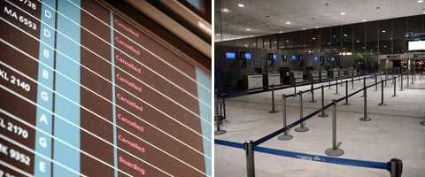 För första gången på 34 år stängde myndigheterna Paris båda internationella flygplatser.