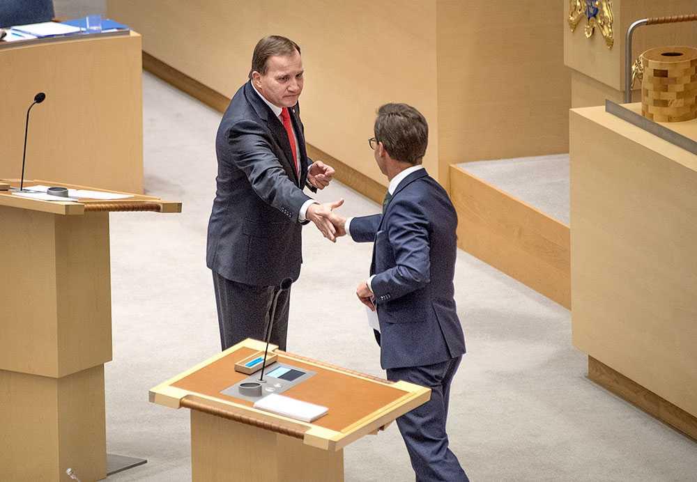 Stefan Löfven och M:s nye partiledare Ulf Kristersson.