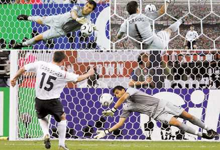 tre gånger NO! Lampard, Gerrard och Carragher missade alla sina straffar mot Portugal.