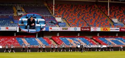 på plats Håkan Ericson bevakade den ungerska träningen.