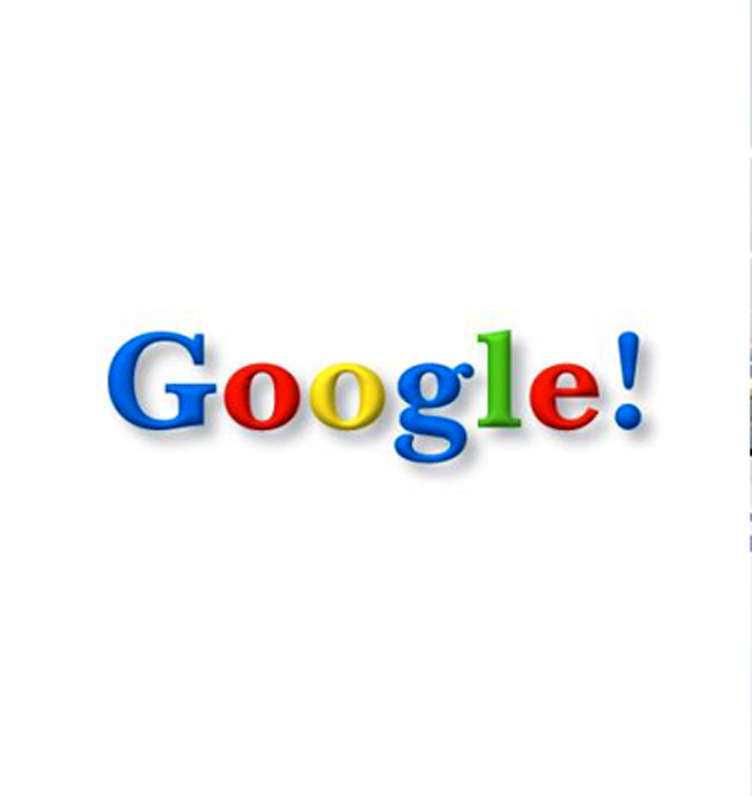 Google: 0 kronor Logotypen ritades 1998 av en av Googles grundare och även om den finjusterats är den i stort densamma.
