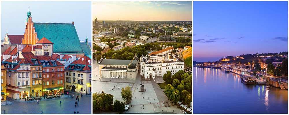 Warszawa, Vilnius och Belgrad är de tre billigaste städerna i Europa att turista i.