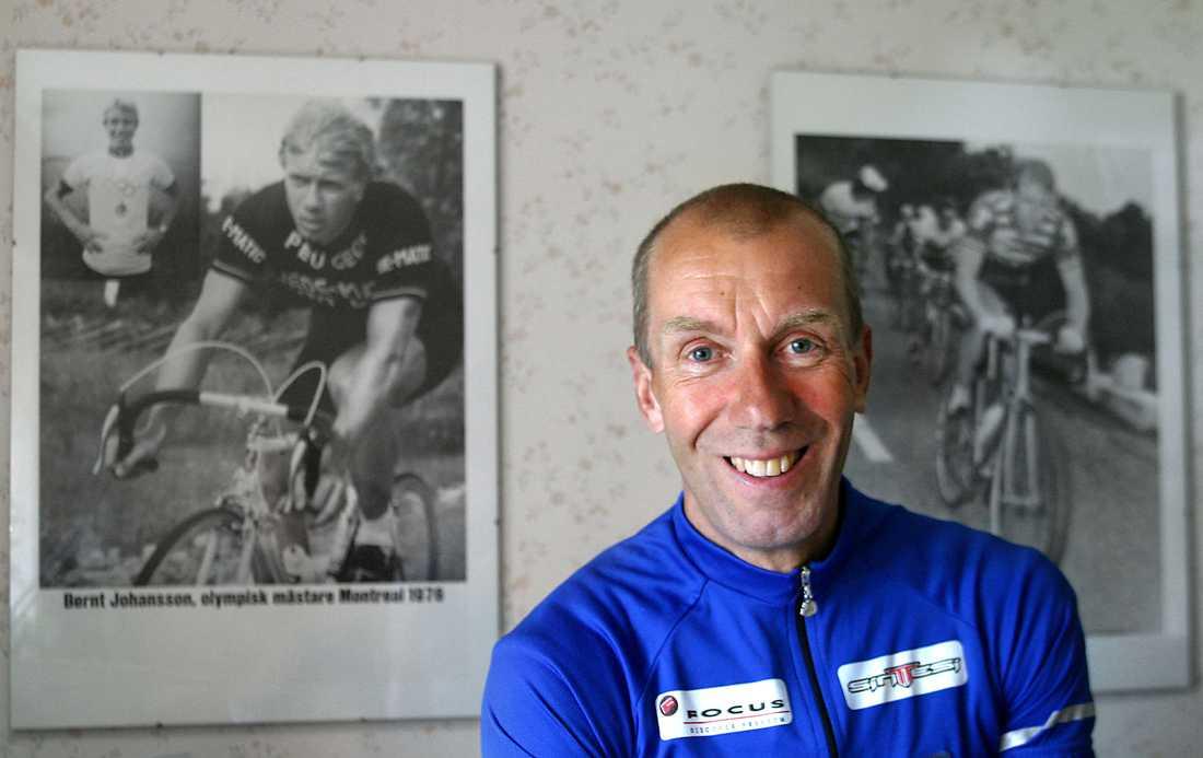 Bernt Johansson, 59, cykling Trampade hem ett svenskt OS-guld i Montreal 1976.
