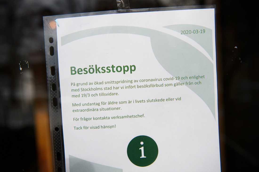 Äldreboenden i Stockholm har drabbats hårt av coronaviruset. Arkivbild.