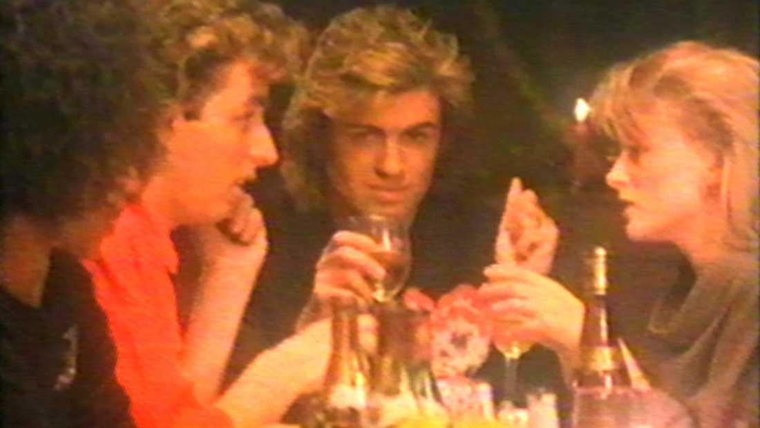 """Låten """"Last Christmas"""" med Wham från 1984, George Michael i mitten."""