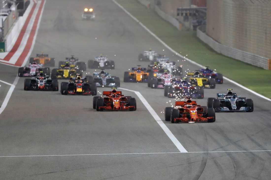 Sebastian Vettel tog starten i Bahrain i år.