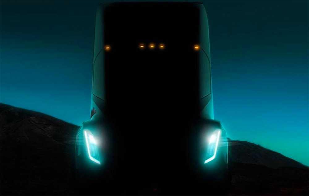 Den bild av den elektrifierade lastbilen som Tesla offentliggjort säger inte så mycket.