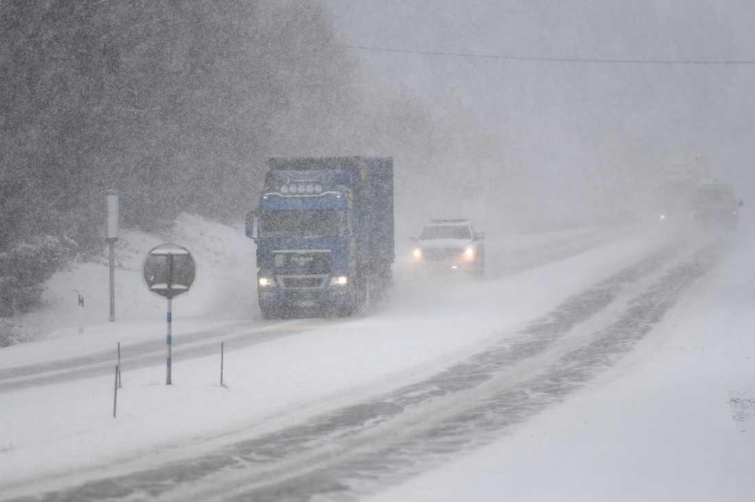 Från fredagseftermiddagen till lördag kväll väntas kraftigt snöfall i Västerbotten.