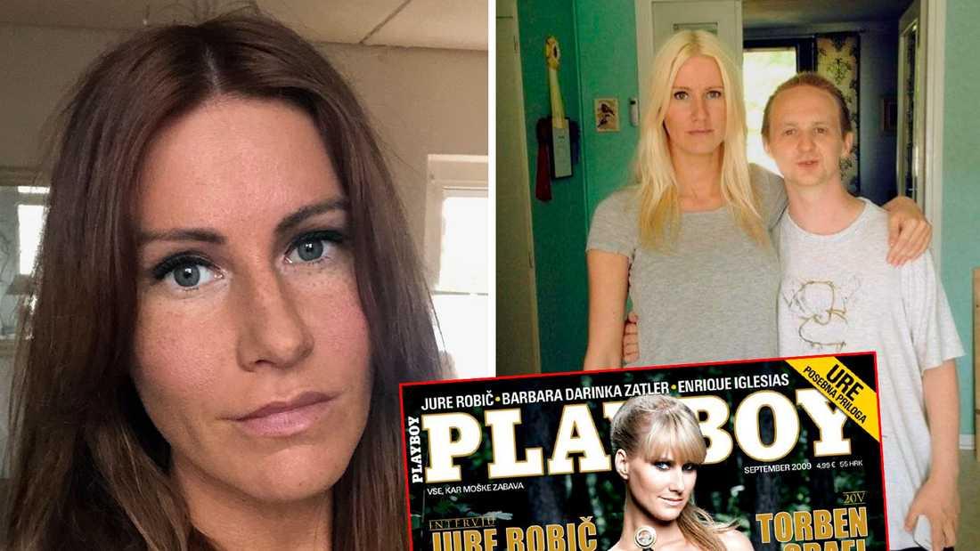 Barbara Zatler var bland annat omslagsmodell för Playboy. På bilden till höger med sin svenska släkting Lars-Göran Stigsby.