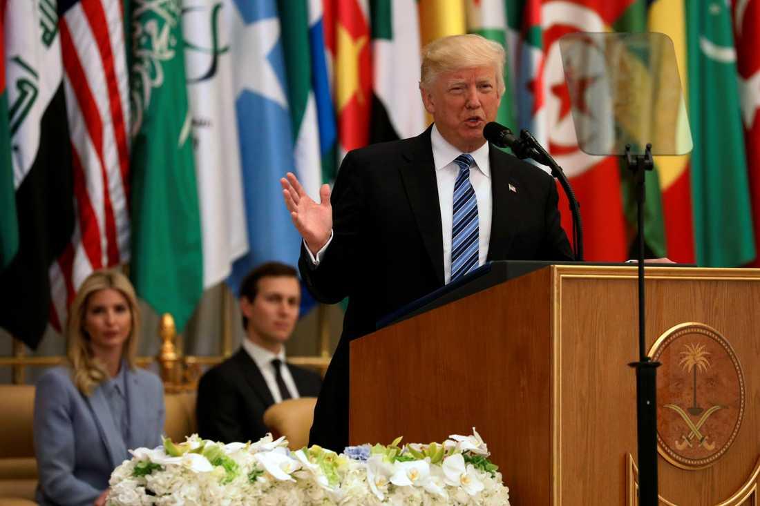 Donald Trump talade inför 50 muslimska ledare.