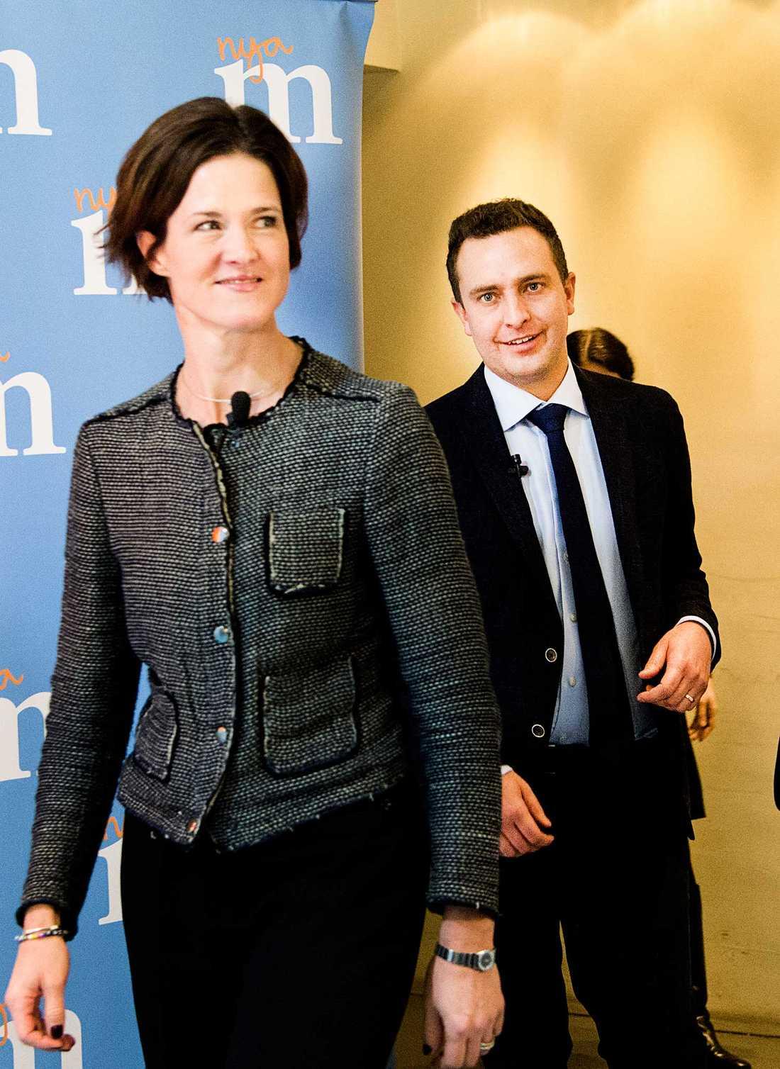 Moderaternas partiledare Anna Kinberg Batra och partisekreterare Tomas Tobé (M).