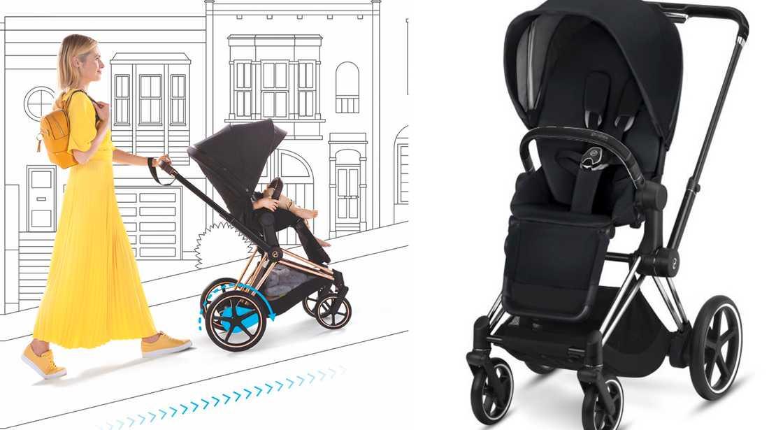 Den elektriska barnvagnen.