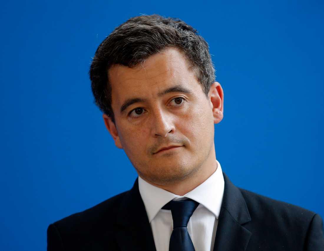 Frankrikes inrikesminister inrikesminister Gérald Darmanin. Arkivbild.