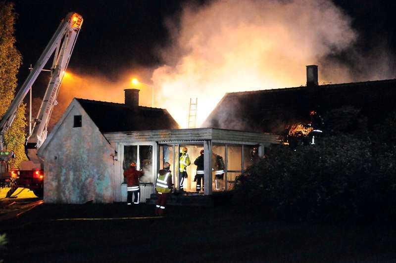 brunnit tre nätter i rad Polisen är övertygad om att branden i sommarhuset var anlagd.