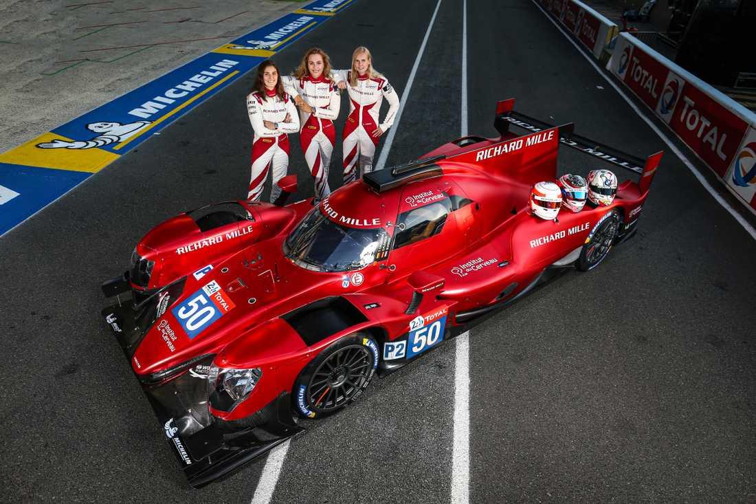 Tatiana Calderón, Beitske Visser och Sophia Flörsch skriver historia när de för första gången ställer upp i Le Mans 24-timmarslopp med ett team bestående enbart av kvinnor.
