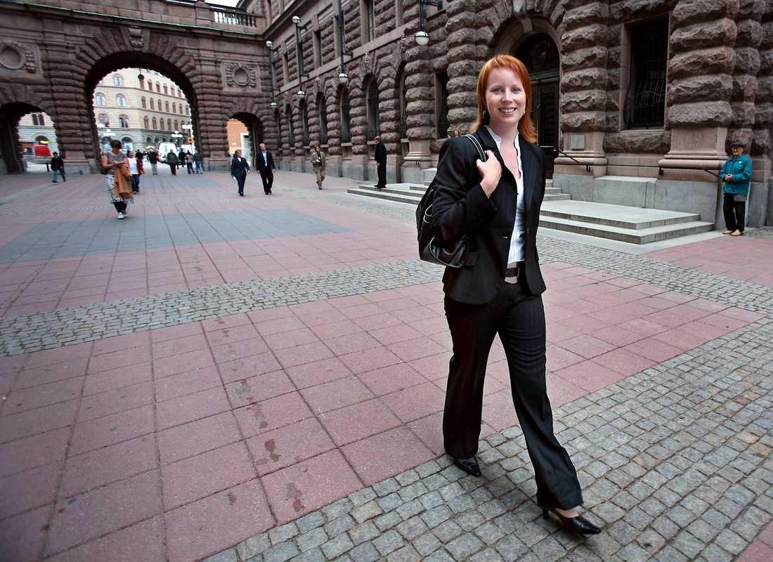 ÖVERTAR?  Annie Lööf, 28, är stor favorit bland C-topparna till att efterträda Maud Olofsson.