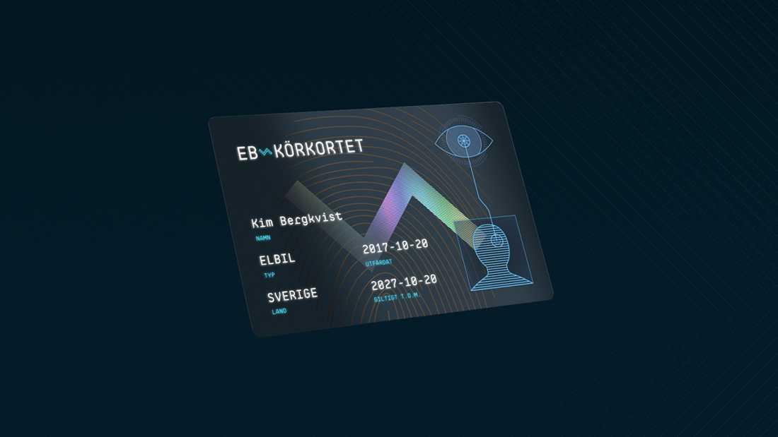Ett exempel på hur EB-körkortet skulle kunna se ut.