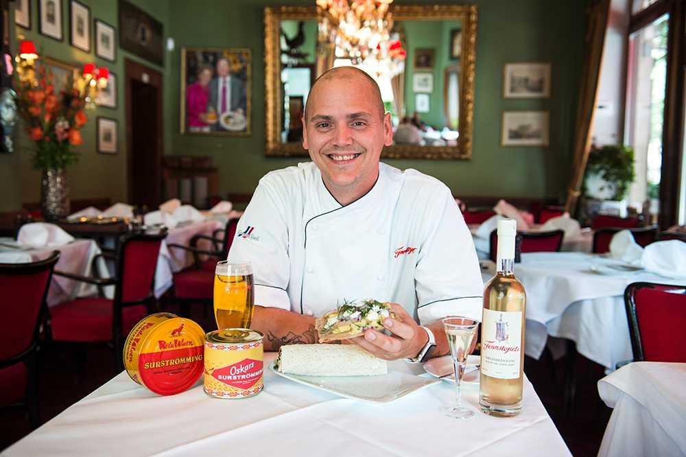 Micke Schedin, köksmästare på restaurang Tennstopet.