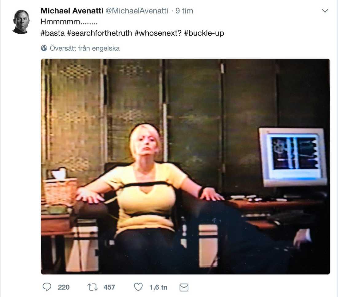 Stormy Daniels advokat twittrade ut bilden.
