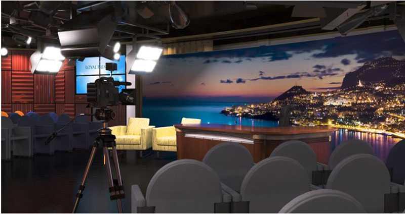 """ROYAL PRINCESS """"Princess TV Live!"""" är världens första tv-studio till havs, enligt rederiet. Härifrån ska bland annat konserter och lekprogram direktsändas."""