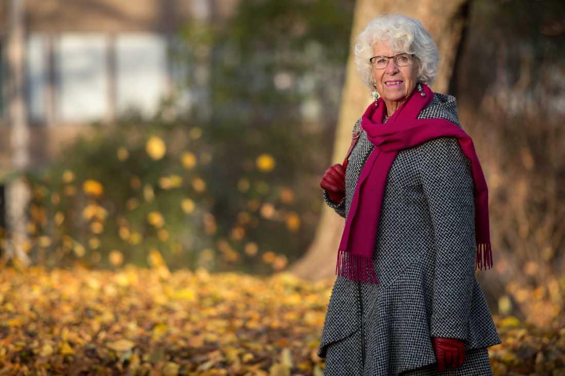 Den tidigare socialdemokratiska riksdagsledamoten och EU-parlamentarikern Maj Britt Theorin har avlidit. Arkivbild.