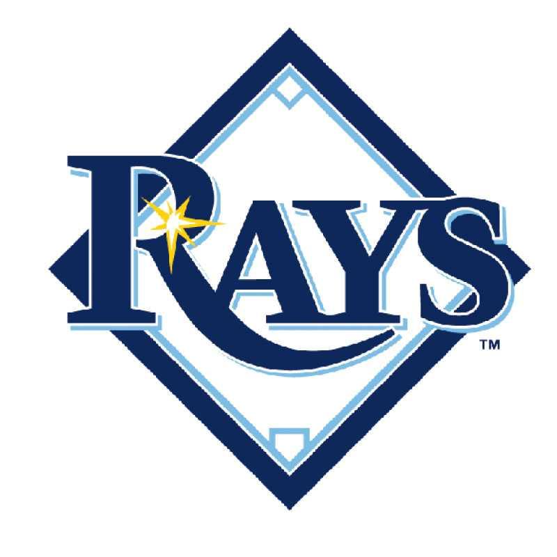 """Tampa Bay Rays 2008 Tampa Bay Devil Rays strök Devil ur lagnamnet inför säsongen 2008 och fick en smula märklig logga på köpet. Från att tidigare haft en stingrocka i sitt emblem (Devil Ray) lekte Tampa med orden och behöll Rays eftersom laget skulle """"stråla likt ljusstrålar över Tampa Bay och genom hela staten Florida"""". Strålar av ljus är inte särskilt skräckinjagande och loggan inte särskilt snygg."""