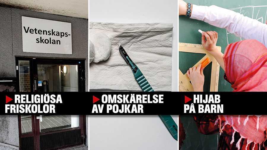 Vi vill se förbud mot religiösa skolor, hijab på småflickor och omskärelse av pojkar. Tyvärr kan barnkonventionen, som nu blir svensk lag, tolkas i en annan riktning, skriver debattörerna.