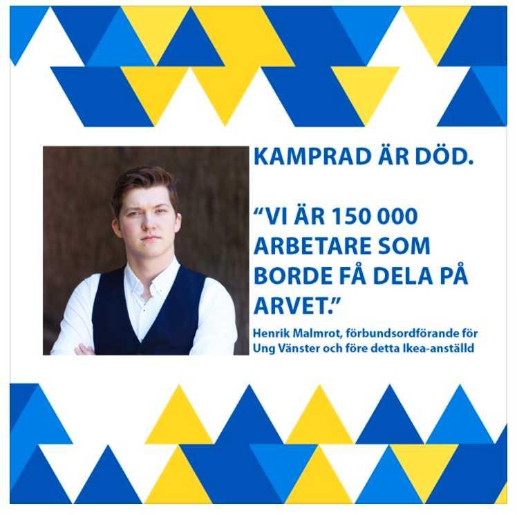 Ung Vänster får kritik efter uttalande om Ingvar Kamprad.