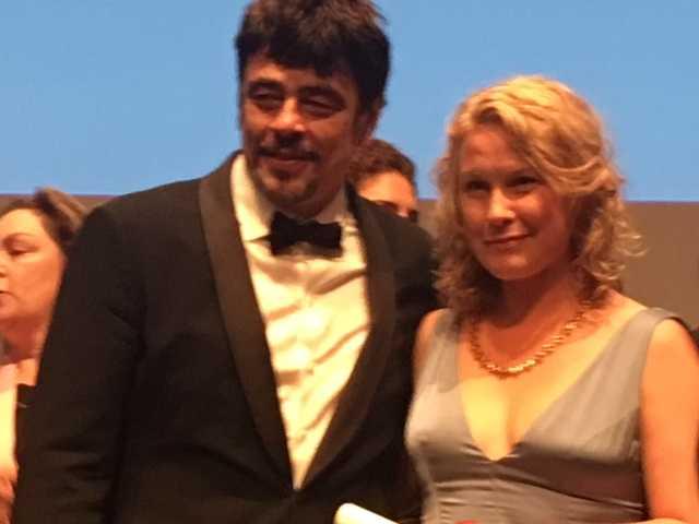 Juryns ordförande Benicio del toro juryns och Eva Melander.