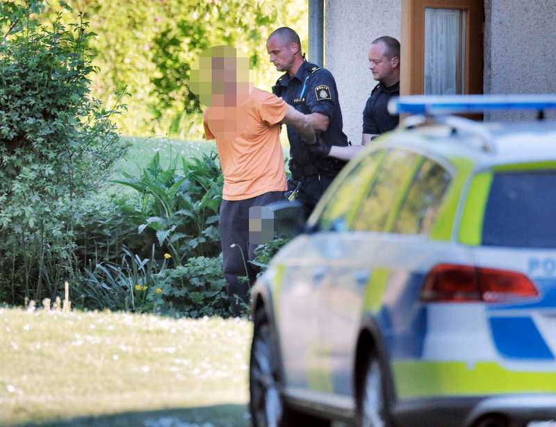 Den mordmisstänkte 35-åringen grips.