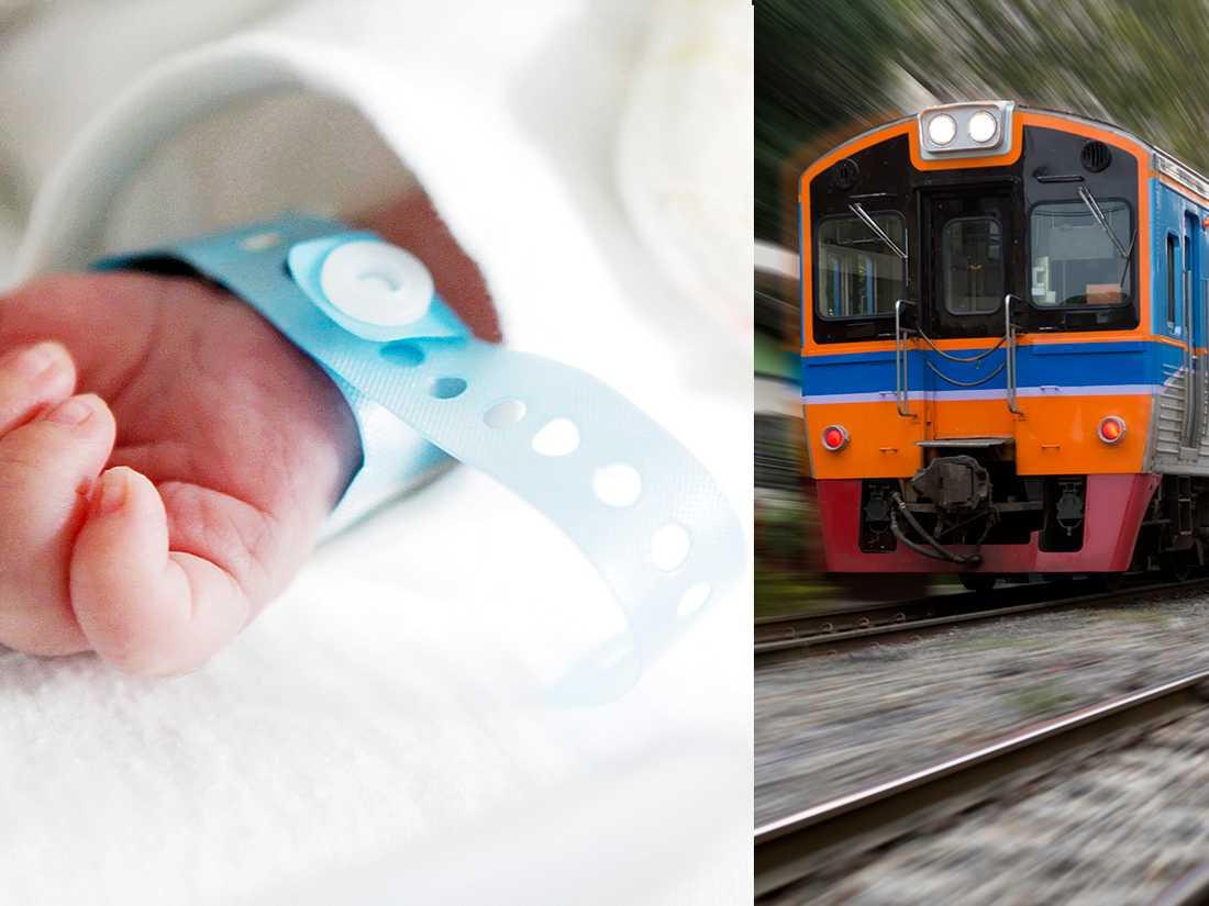 Gravid Kvinna Tåg Film