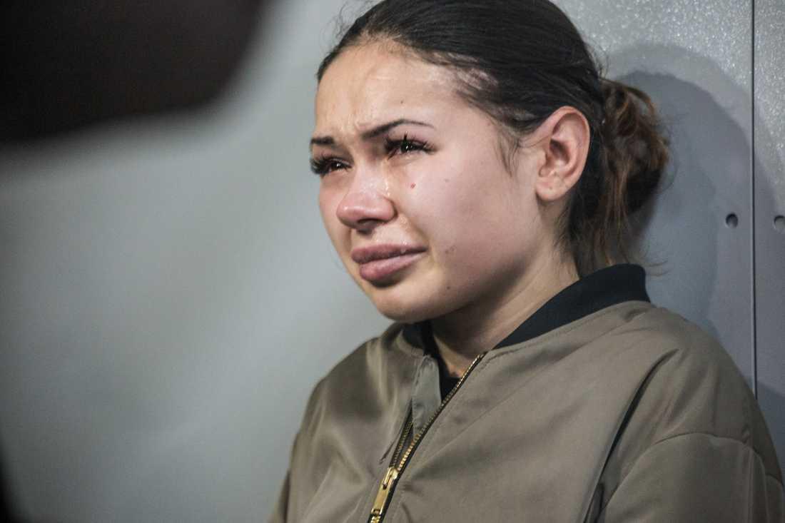 Olena Zaitseva, 20, körde mot rött i centrala Charkiv – i över 100 kilometer i timmen.