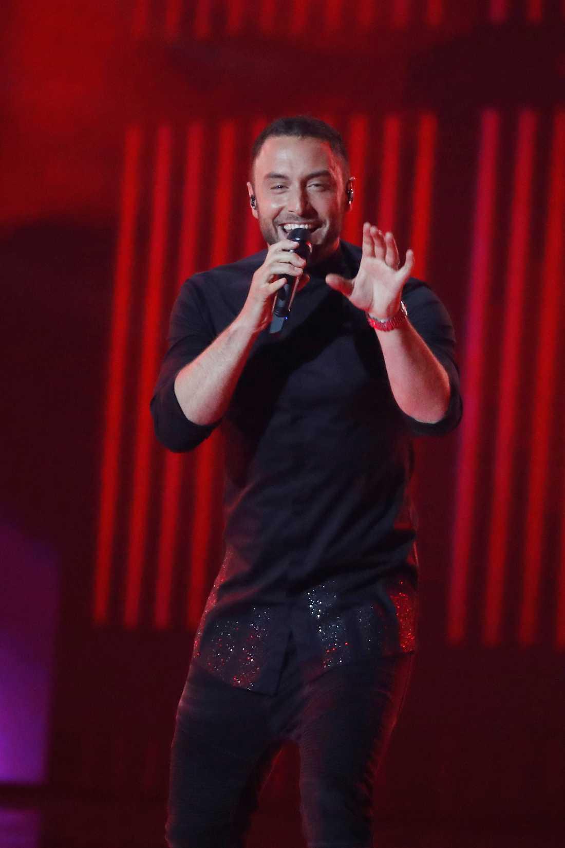 Måns Zelmerlöw under eurovision i år.