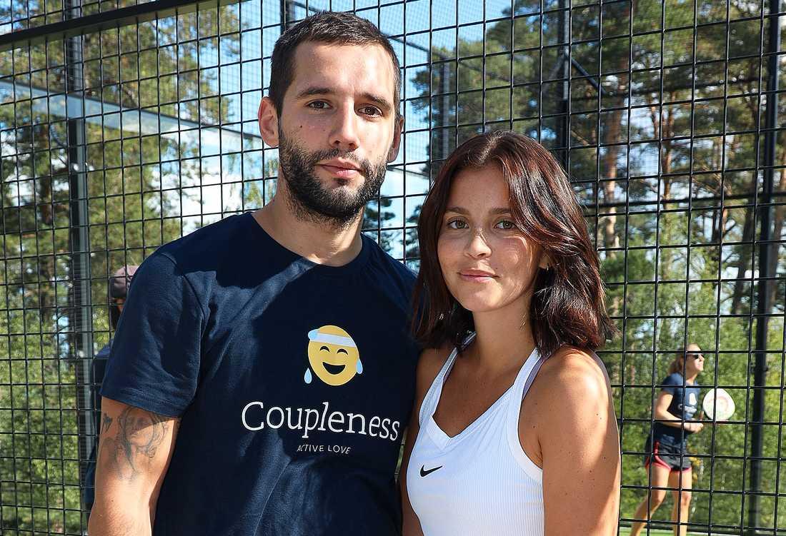 Nya paret Adem Berisha och Nicole Falciani.