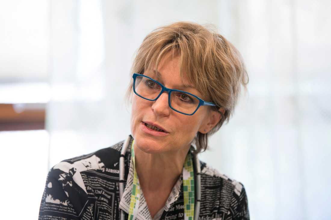 FN-utredaren Agnès Callamard på besök i Stockholm.