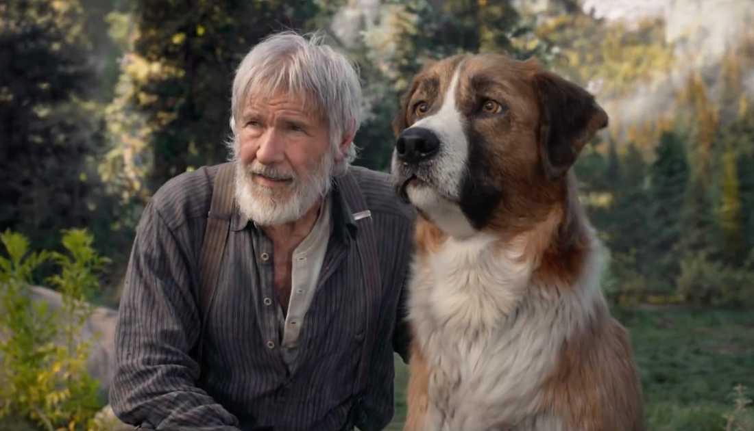 """Harrison Ford i """"Skriet från vildmarken""""."""
