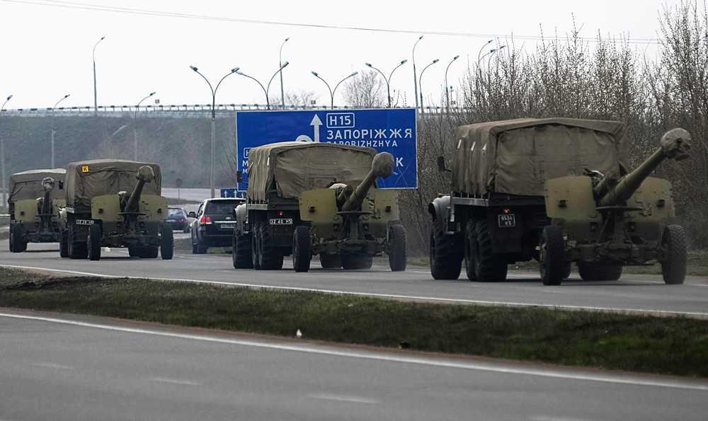 Ryska trupper vid gränsen till Ukraina