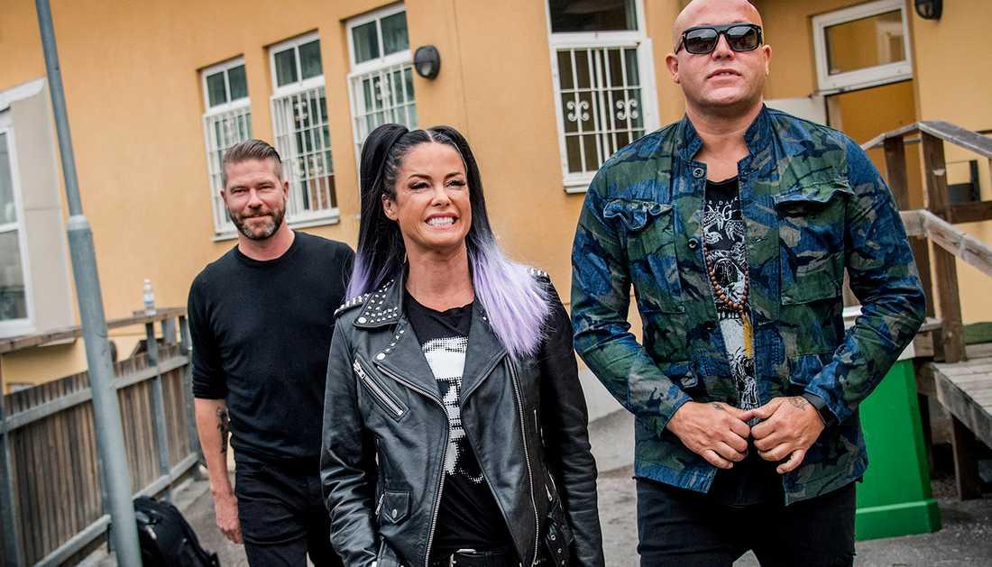Søren Rasted, Lene Grawford Nystrøm och René Dif är de kvarvarande medlemmarna i Aqua.
