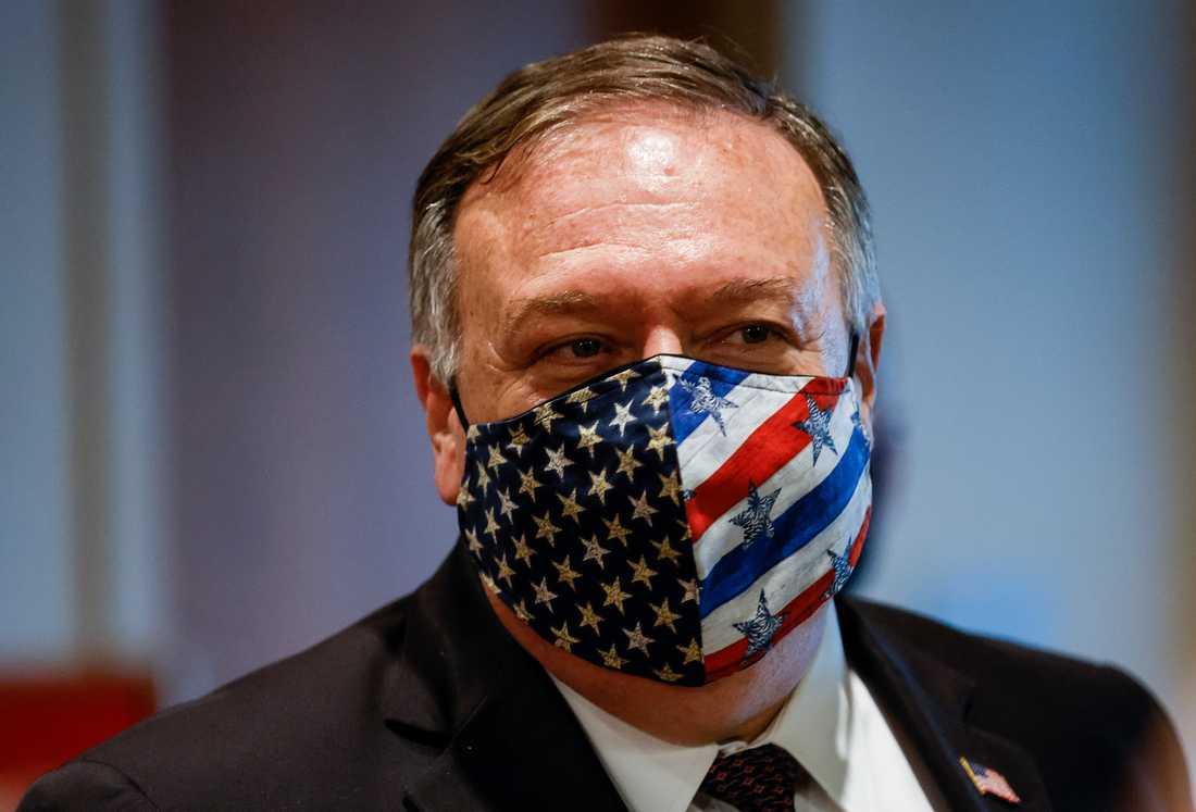 USA:s utrikesminister Mike Pompeo efter ett möte med medlemmar i FN:s säkerhetsråd i augusti.