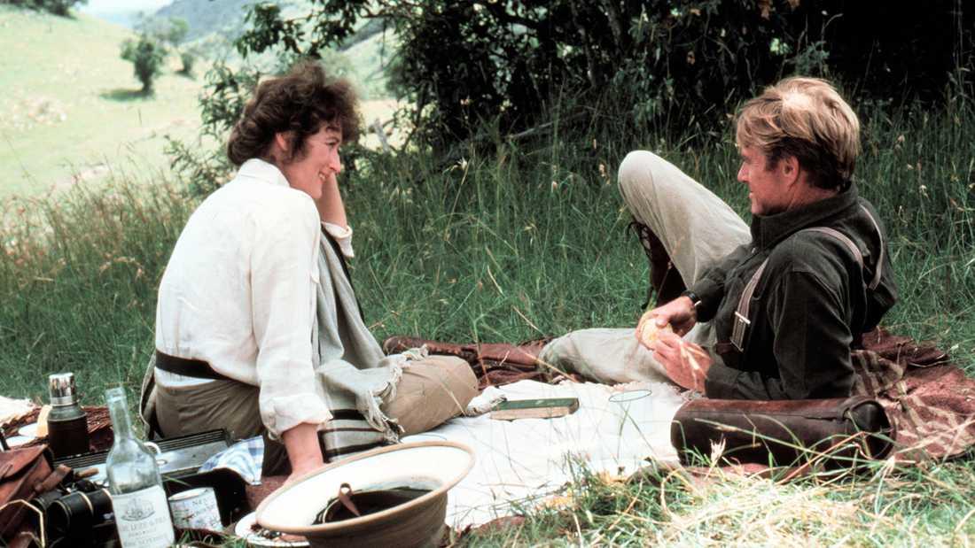 """Meryl Streep och Robert Redford i """"Mitt Afrika""""."""