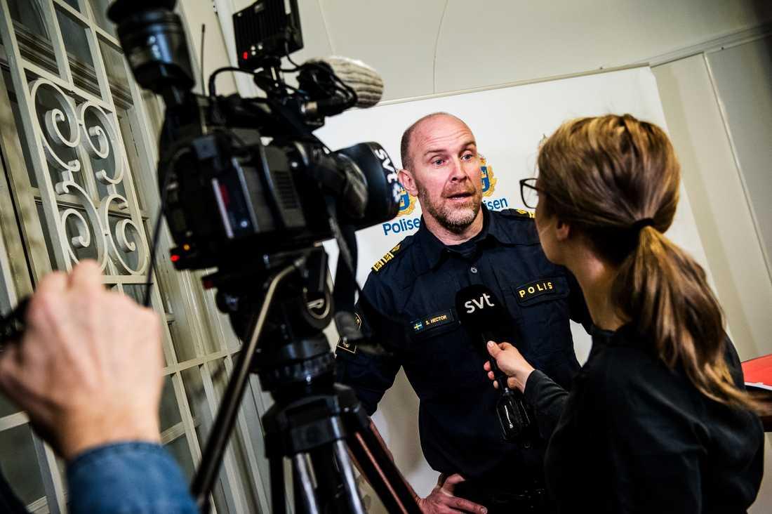 Stefan Hector, kommenderingschef Polisen.