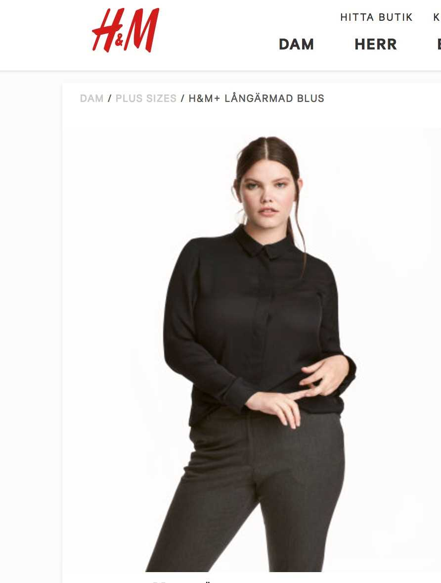 """Här är en av modellerna som H&M har valt till sin """"plus """"size-kampanj."""
