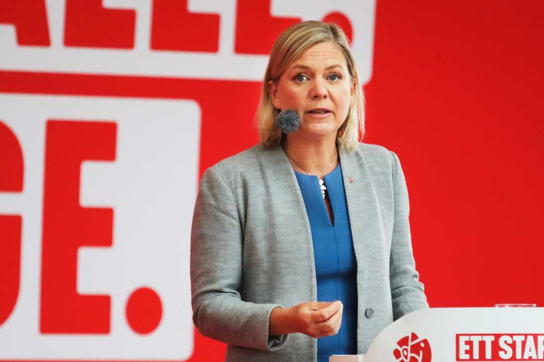 I slutet av veckan presenterar finansminister Magdalena Andersson (S) hur stort utrymmet är för nya, ofinansierade reformer. Arkivbild.