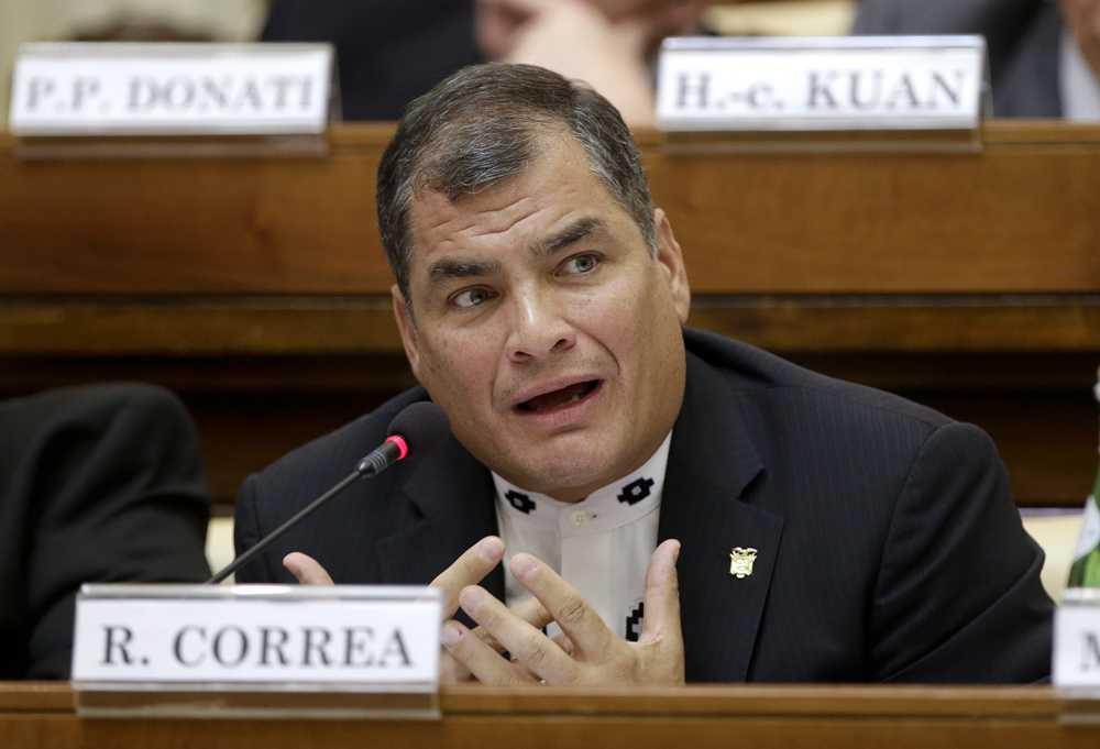 Ecuadors president Rafael Correa