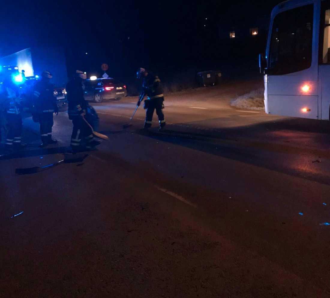 Olycksplatsen i Orsa där 14-åriga Elsa Englund kördes ihjäl.