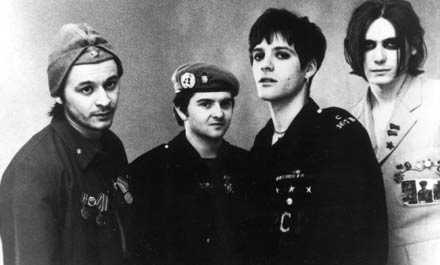 Kvartett Manic Street Preachers i början av 90-talet: James Dean Bradfield, Sean Moore, Richey James Edwards och Nicky Wire.
