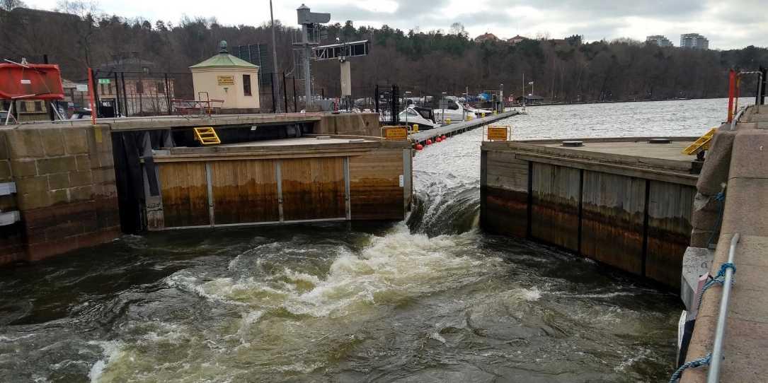 Vattenreglering i Mälaren.