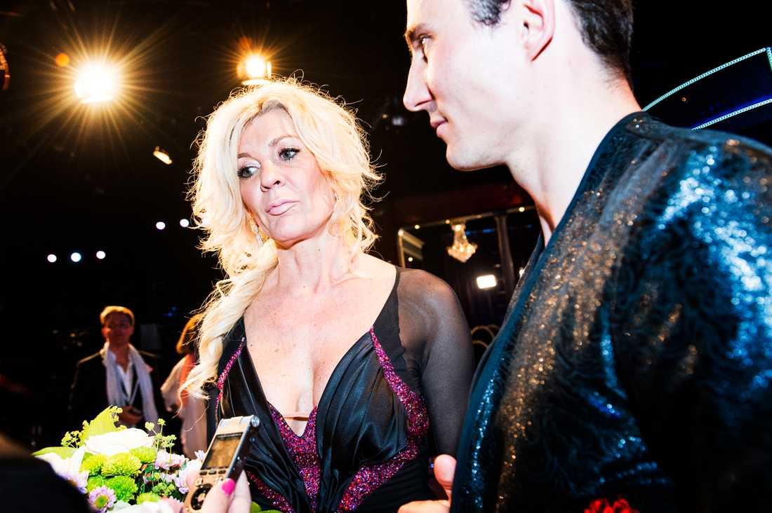 Maria Montazami med danspartners Kristjan Lootus i 'Let's dance'.