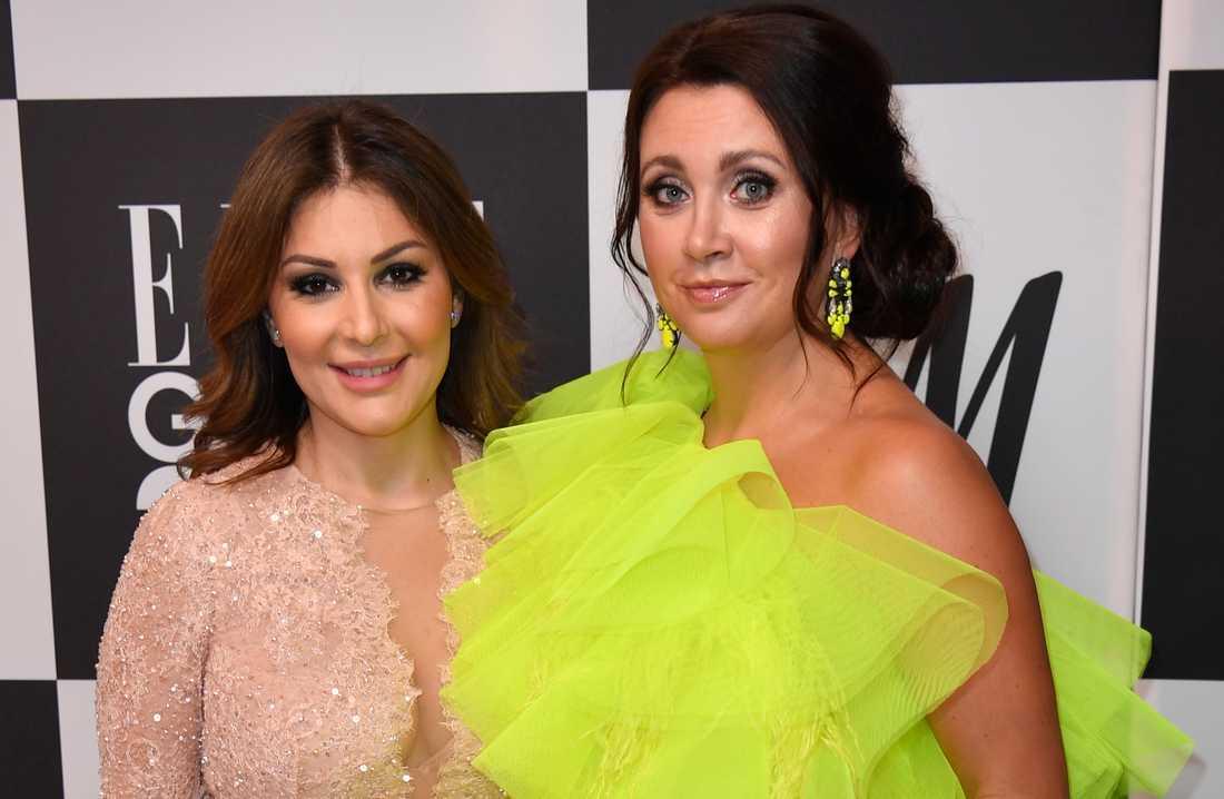 Christina Saliba och Camilla Läckberg på Ellegalan i januari.